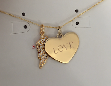 A little necklace to remind her she is loved.