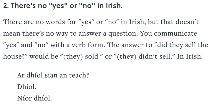 mentalfloss - Irish yes and no